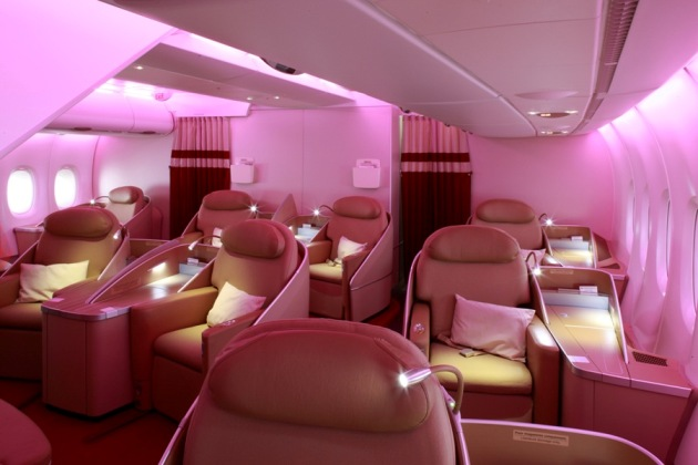 The best first class airline cabins in the world therichest for Interieur d avion air france