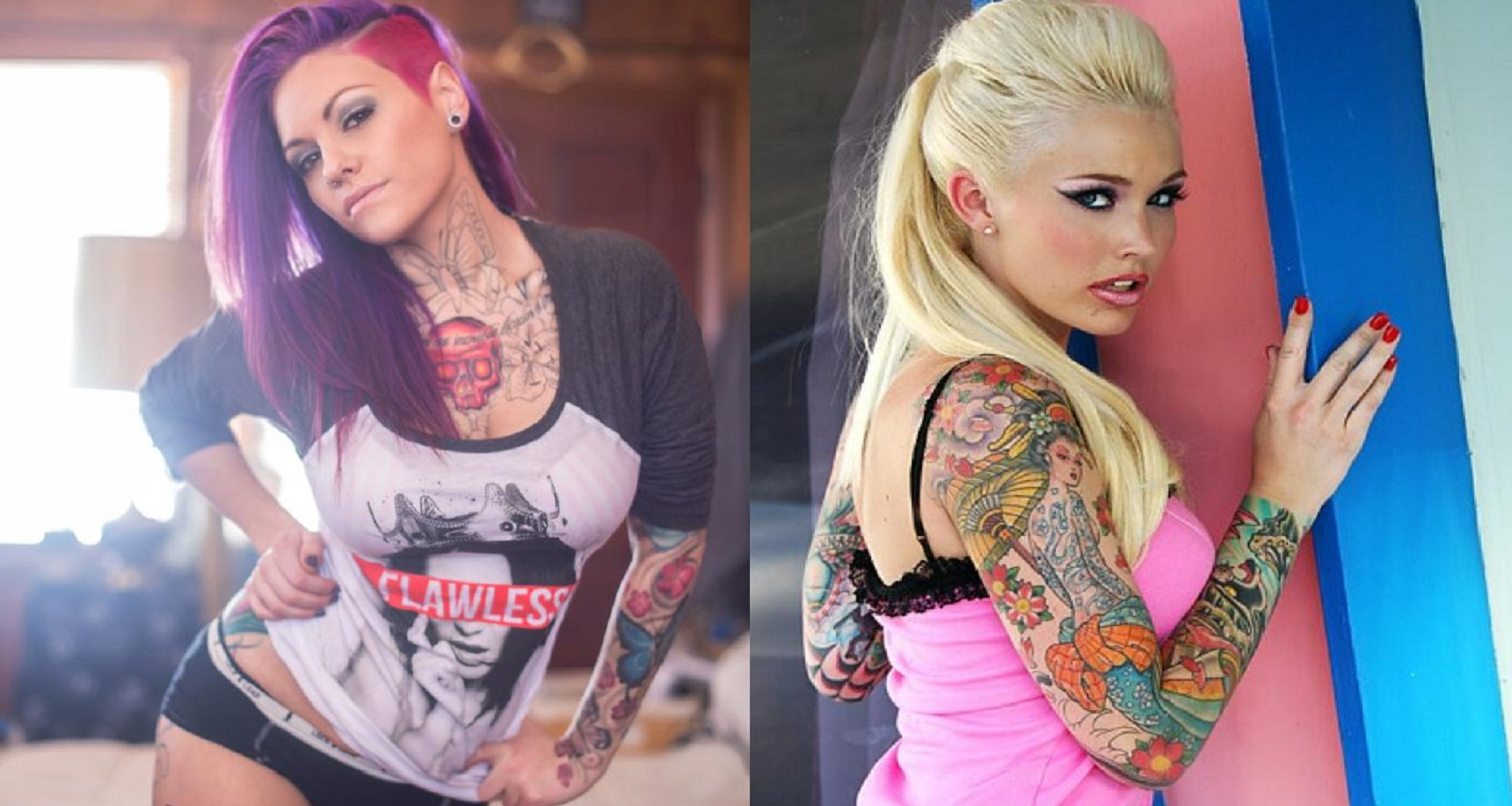 The 20 sexiest tattoo models of 2015 for Nude tattooed chicks