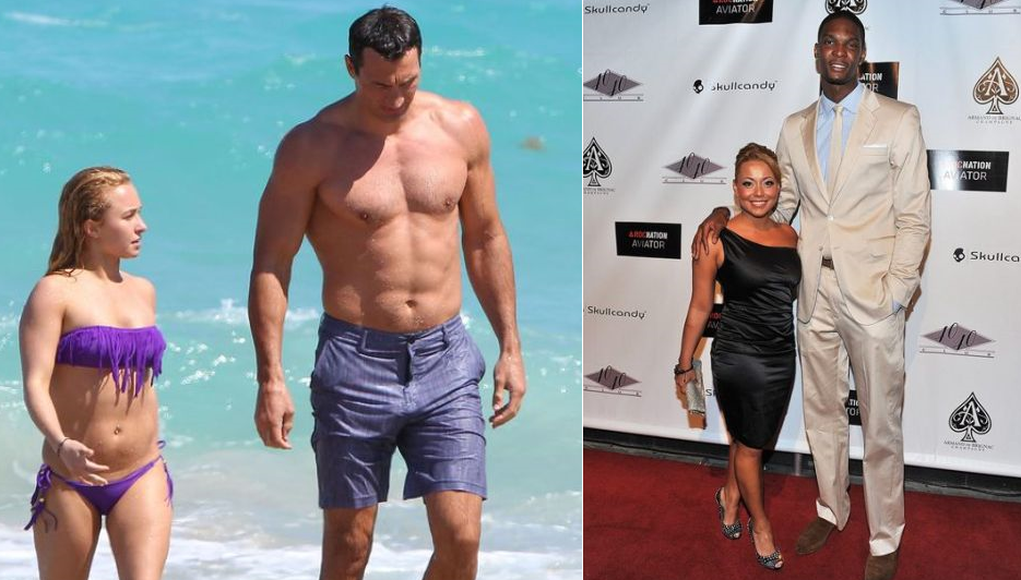 10 Giant Athletes With Tiny Lovers