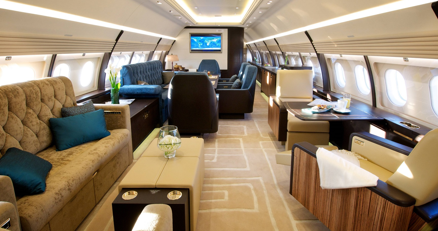 Bill Gates Private Jet Interior  Wwwgalleryhip  The Hippest Pics