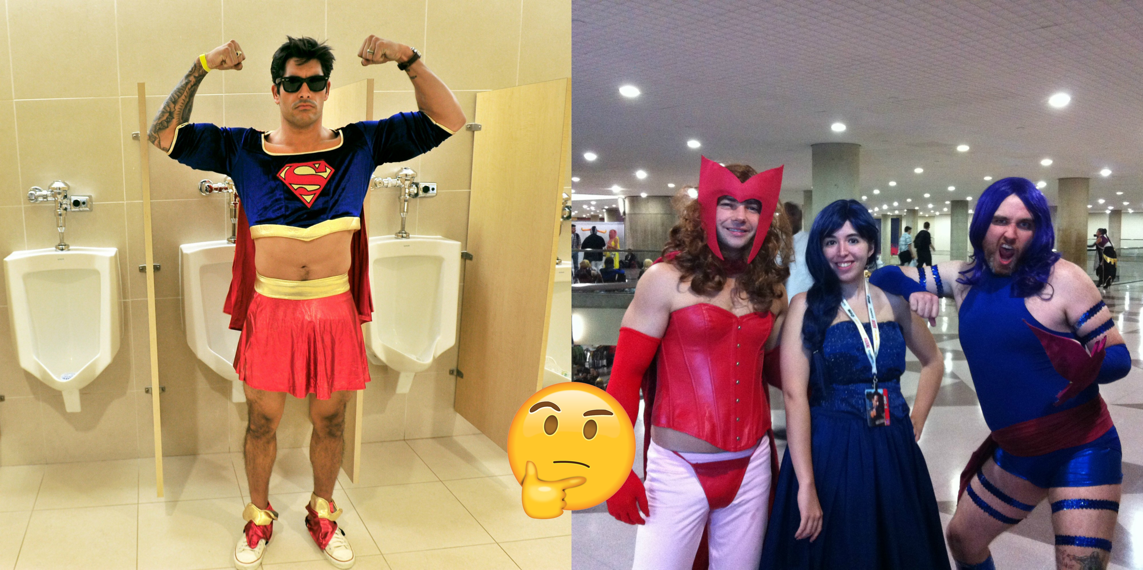 Male Cosplayers Dressed As Female Characters