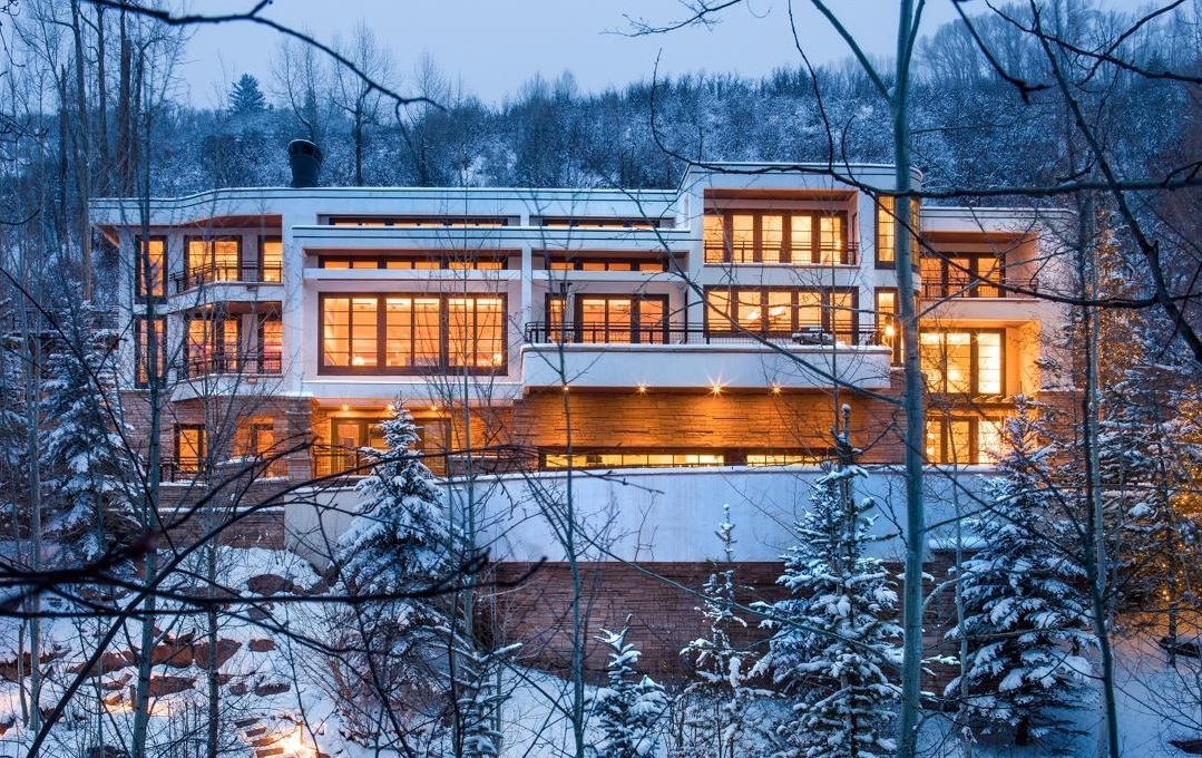 Top 10 mega homes from the top three zip codes therichest for Celebrity homes in aspen